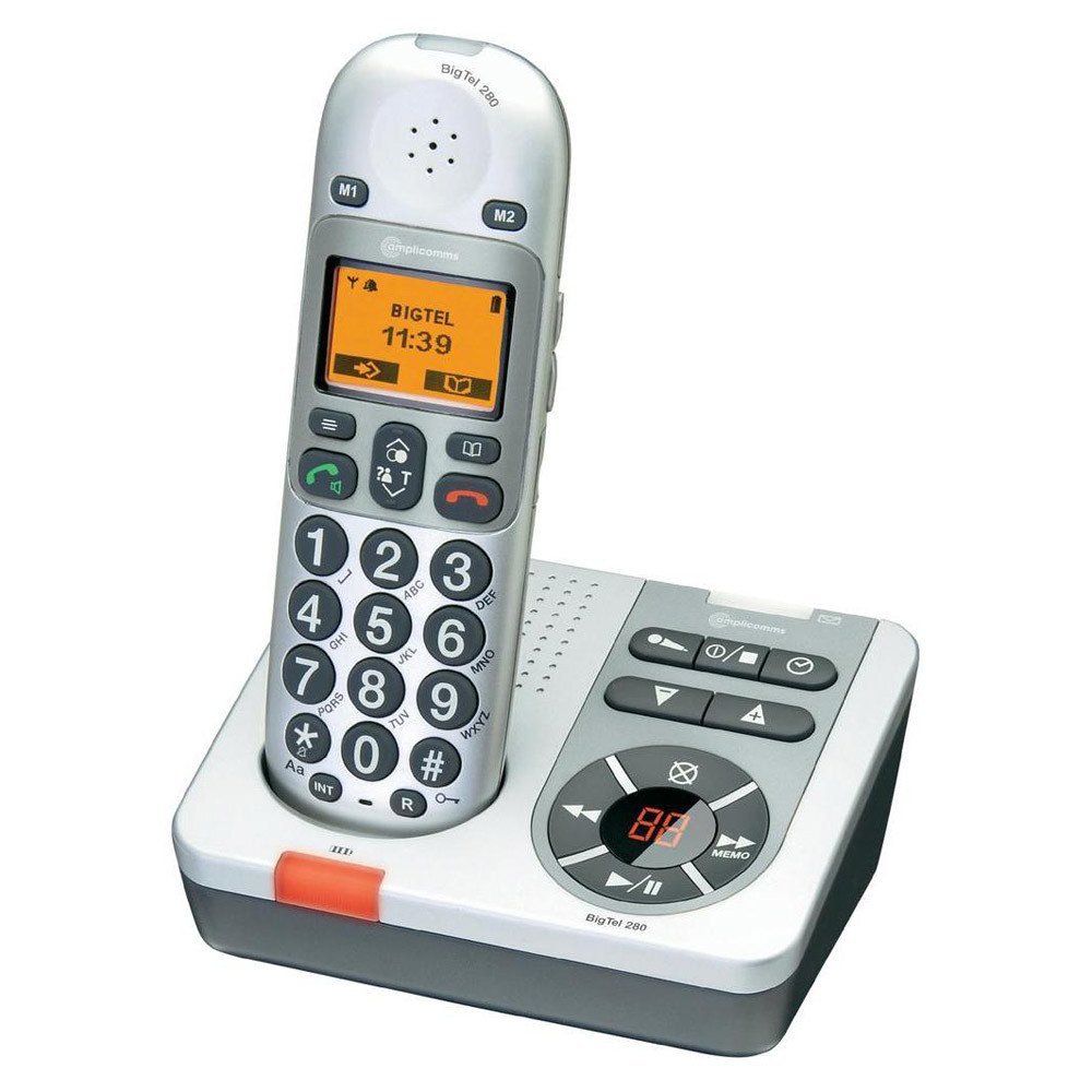 big button cordless phone with answering machine