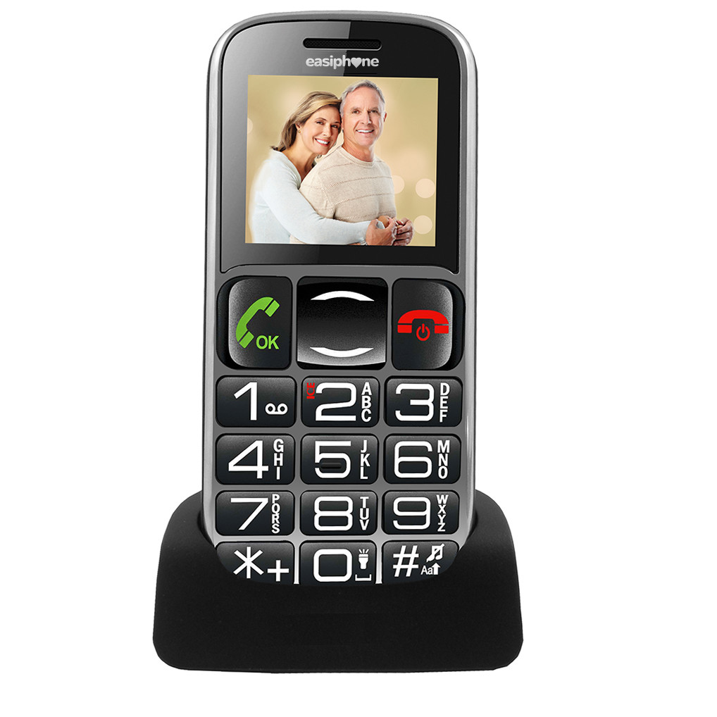 easiphone ep 002 mobile phone with loud ringer and sos button with built in radio and bluetooth. Black Bedroom Furniture Sets. Home Design Ideas